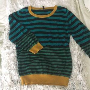 UCB color blocked stripe sweater